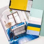 Designs in shades of Sherwin-Williams blue