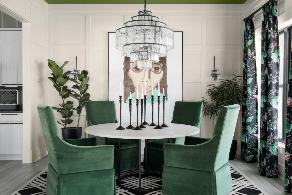 dining room in the HGTV smart home