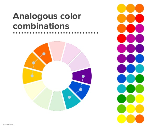 analogic color combination graph