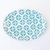 Bargello Blue Platter by Linen Chest