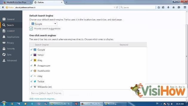 Set Default Search Engine In Mozilla Firefox In Windows 7 Visihow
