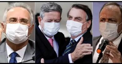 Renan Calheiros Artur Lira Jair Bolsonaro Eduardo Pazzuello Vision Art NEWS
