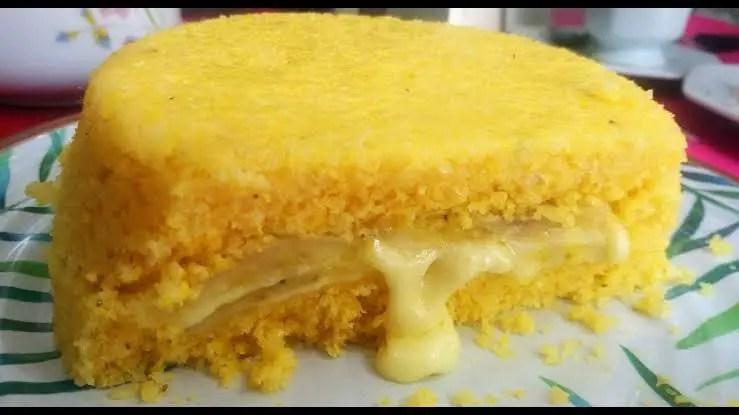 Cuscuz recheado com queijo e banana fácil de fazer venha fazer –