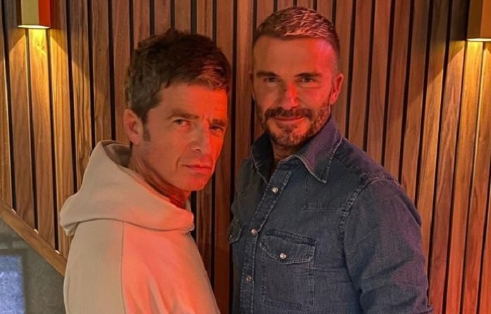Noel Gallagher e David Beckham Vision Art NEWS
