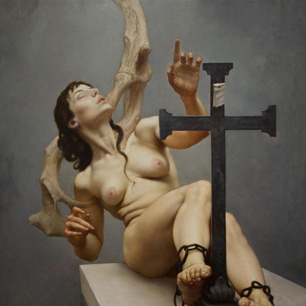 TRACCE DI DIO. 120 x 100 cm. 2017. Roberto Ferri