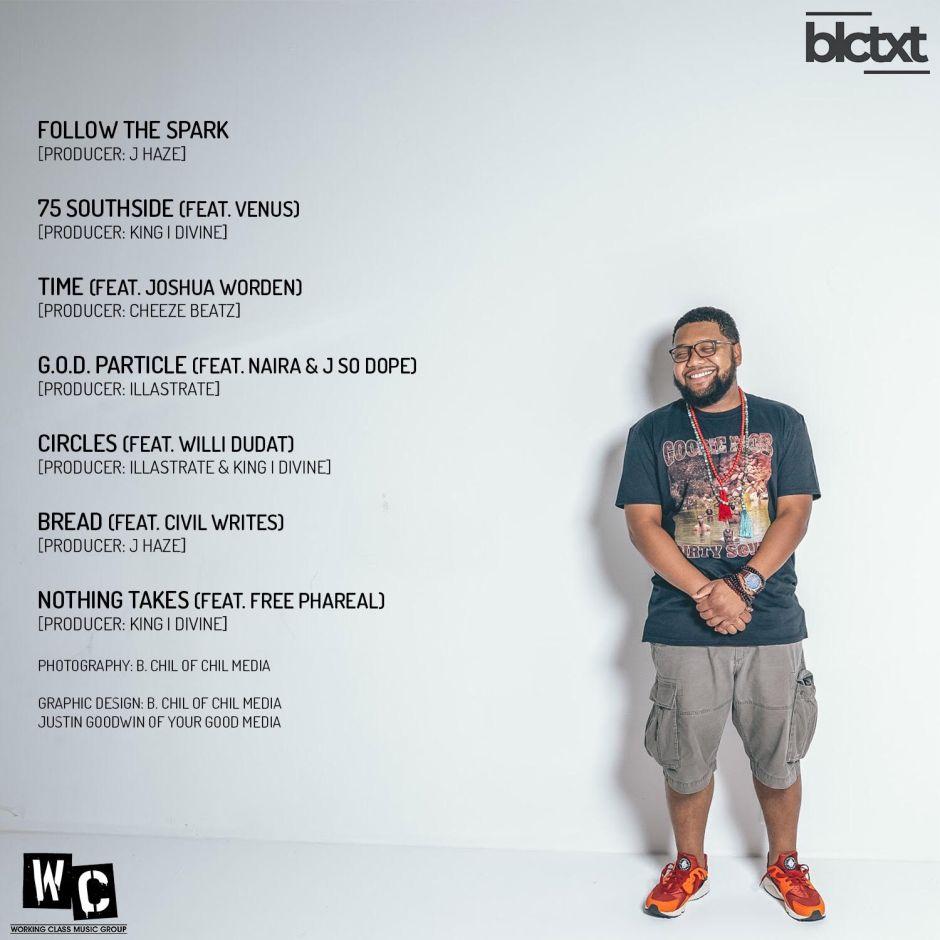 Backview of blctxt contxt's album cover