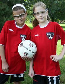 Children Wearing Protective Sport Eyewear