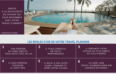 web to store : les travel planners