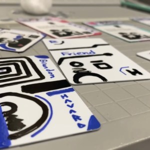 visionaryPass Painted Interactive Art and Business Card with Digital Commands