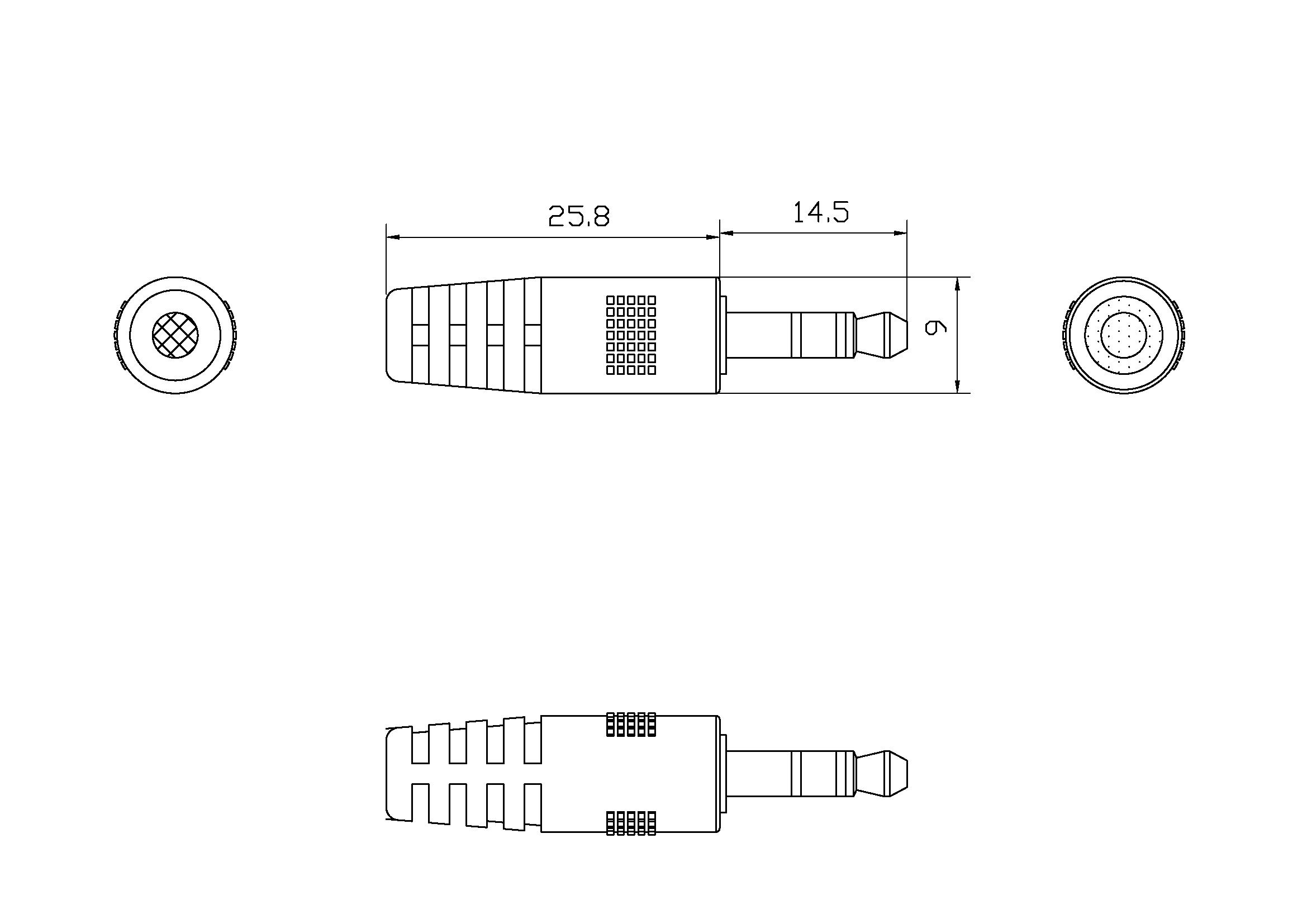 Tc 2m3 5mm2pho Cable Professionnel Blanc Minijack Vers