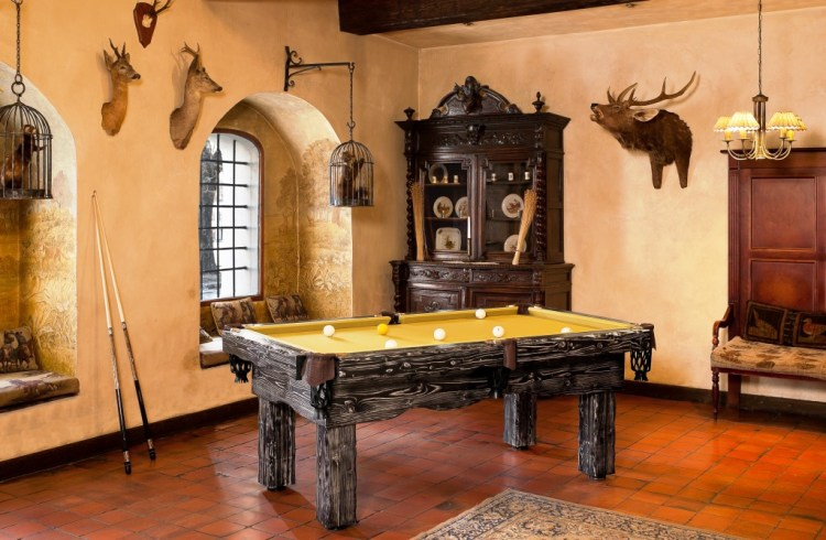6' Artemis Rustic Log Hand made pool table by Vision Billiards