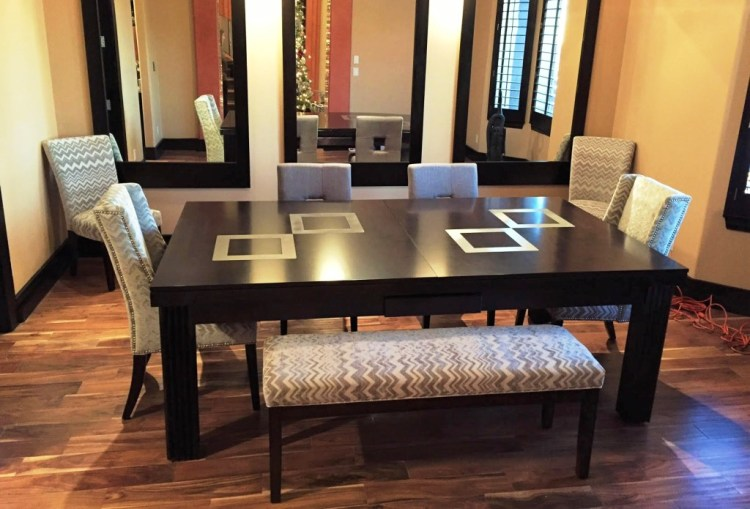 Convertible dining pool fusion table Toledo by Vision Billiards with table top