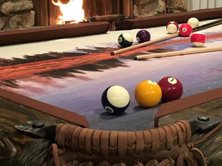 Wilderness rustic log pool table by Vision Billiards fragment