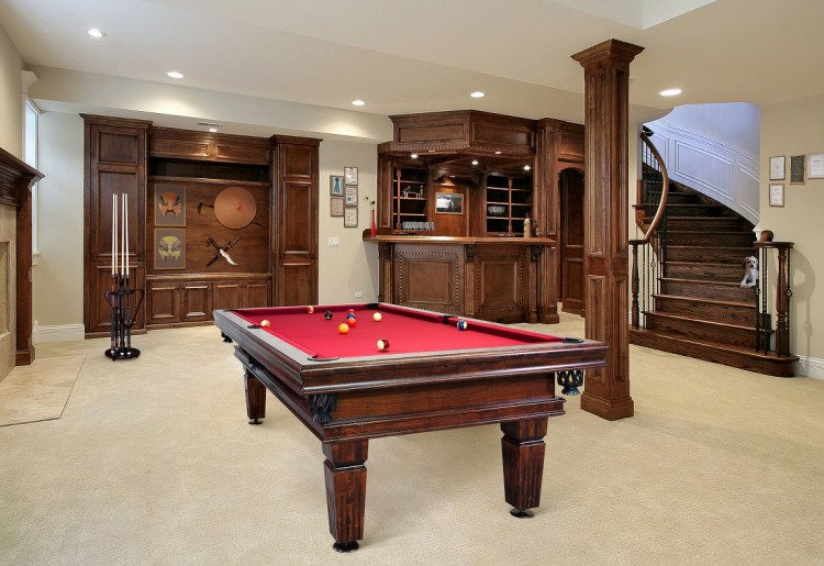 Poseidon professional pool table Vision Billiards mahogany