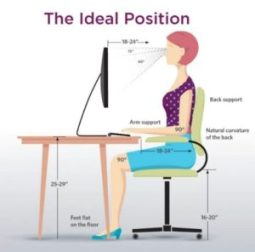 sit correctly - correct your slouching posture