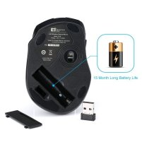 Pictek Wireless Laptop Mouse Computer Mice PC Mouse with Nano Receiver 6 Buttons 2400 DPI