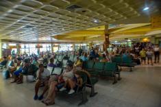 Salones de espera del aeropuerto internacional Frank País, de la ciudad de Holguín, el 6 de septiembre de 2016, listo para operar proximamente vuelos regulares entre Cuba y los Estados Unidos de América. ACN FOTO/Juan Pablo CARRERAS/sdl