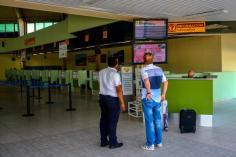 Mostradores de tráfico del aeropuerto internacional Frank País, de la ciudad de Holguín, el 6 de septiembre de 2016, listo para operar próximamente vuelos regulares entre Cuba y los Estados Unidos de América. ACN FOTO/Juan Pablo CARRERAS/sdl