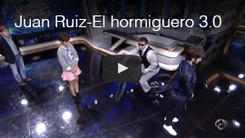 Video thumbnail shows World Access For The Blind Perceptual Navigation Instructor Juan Ruiz appearing onEl hormiguero 3.0 in Spain. Click the thumbnail to see and hear the video on youtube.