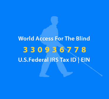 World Access For The Blind U.S. Federal IRS Tax ID | EIN 330936778. Image: Silhouette of Daniel Kish walking.