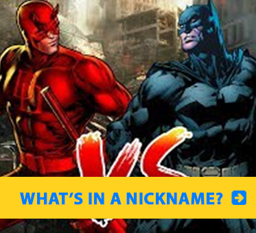 Photolink to Daredevil vs Batman features an illustration of the two comic book characters.