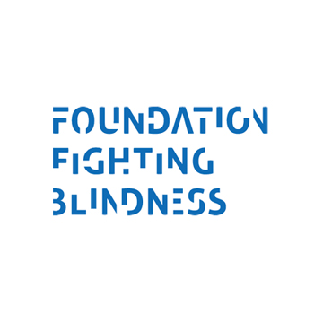 Foundation Fighting Blindness logo- Panel 2 as described in previous text.