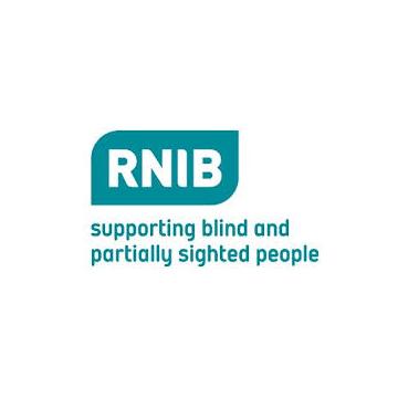 RNIB logo - panel 2 as described in previous text.