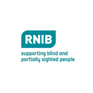 RNIB logo - panel 2 as described in previous text.
