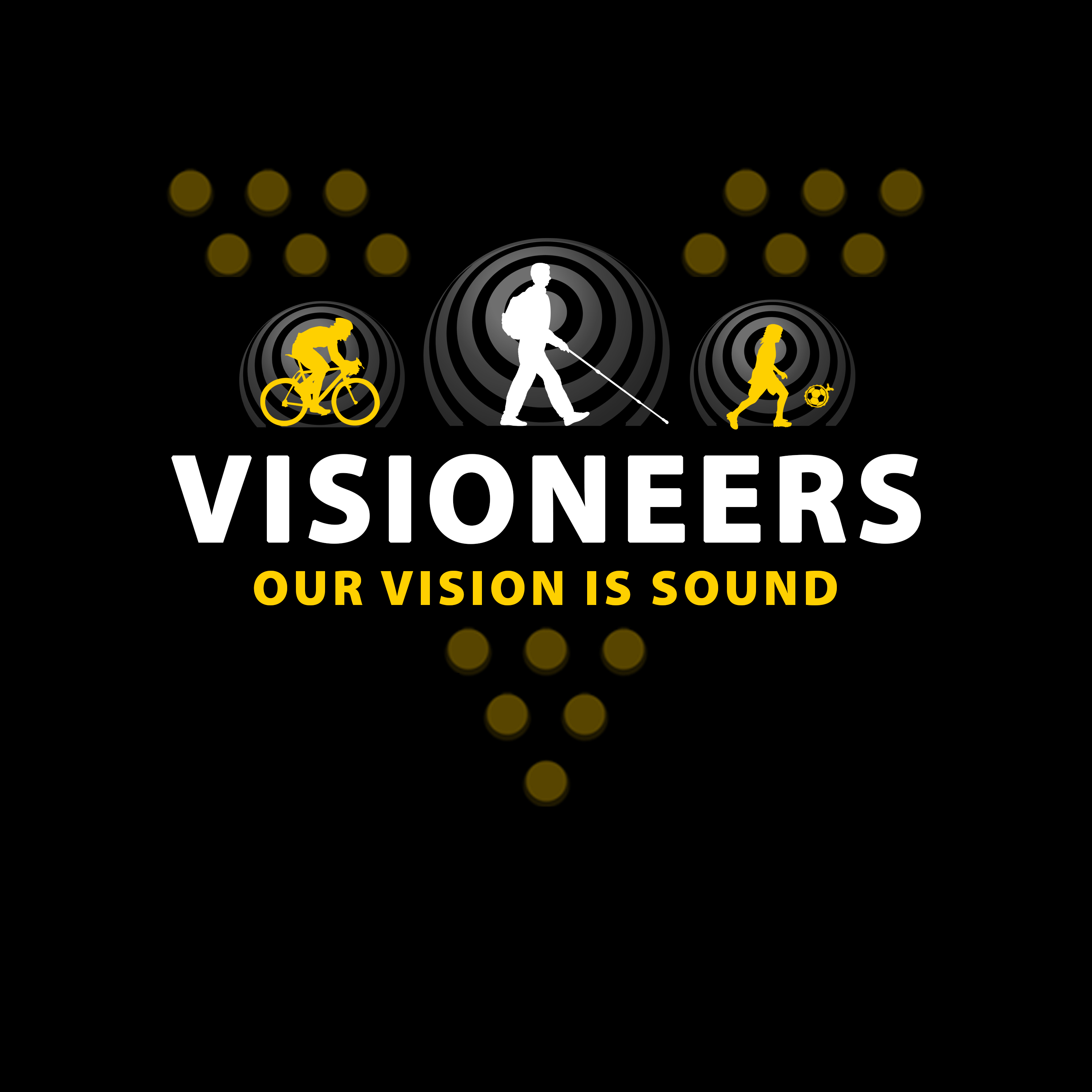 Visioneers 2. Same as previous panel but with white Daniel silhouette.