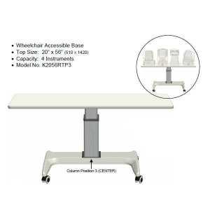 K2 Four Instrument Power Table Model No. K2056RTP3