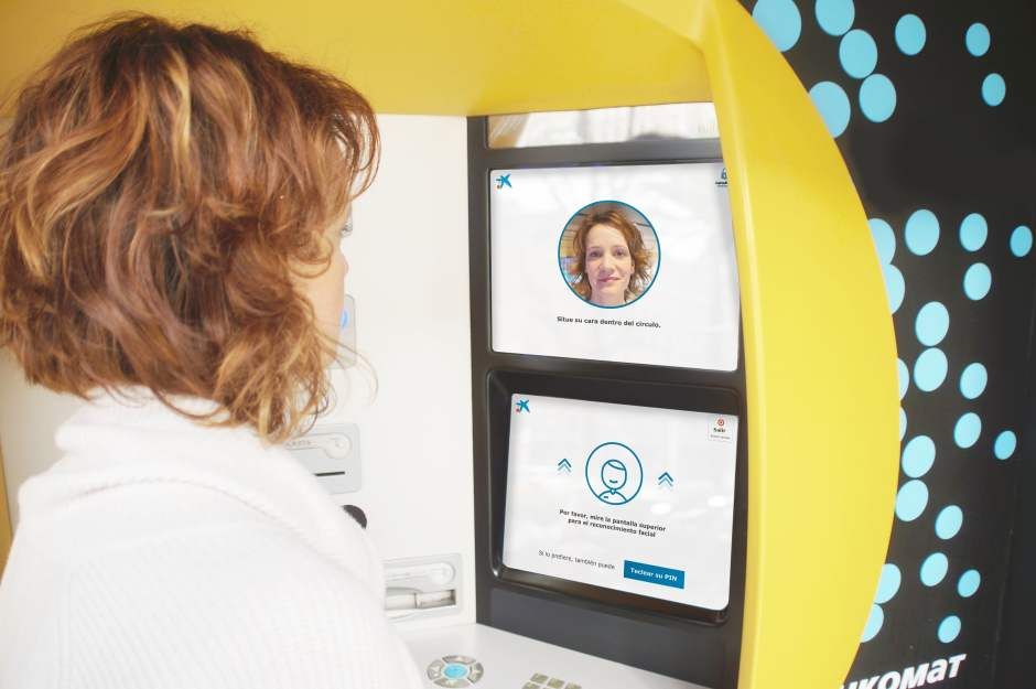 CaixaBank, the world's first bank to use facial recognition to withdraw cash at ATMs