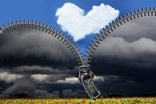 unzippered heart