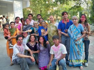 Holi at Old age home vision raval1
