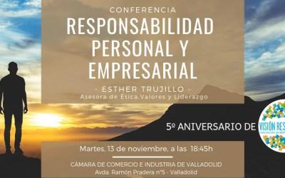 """Conferencia sobre """"Responsabilidad personal y empresarial"""" para celebrar el 5º Aniversario de Visión Responsable"""