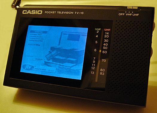 Casio TV 10 Screen Shot photographed December 7, 2010