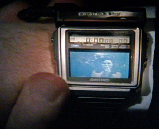 Screen Shot Dragnet Seiko TV Watch T-001 photographed March 27, 2011