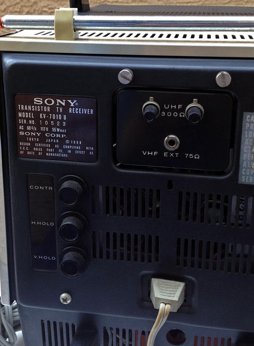 Sony KV 7010U photographed January 23, 2013
