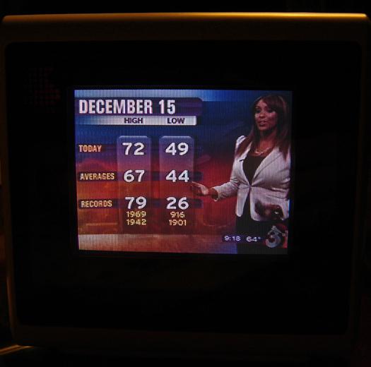 Sony KVX 370 Screenshot photographed December 15, 2010