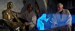 Star Wars Hologram courtesy 20th Century Fox