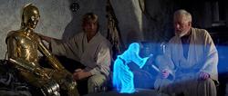 Star Wars Hologram courtesy 20th Century Fox