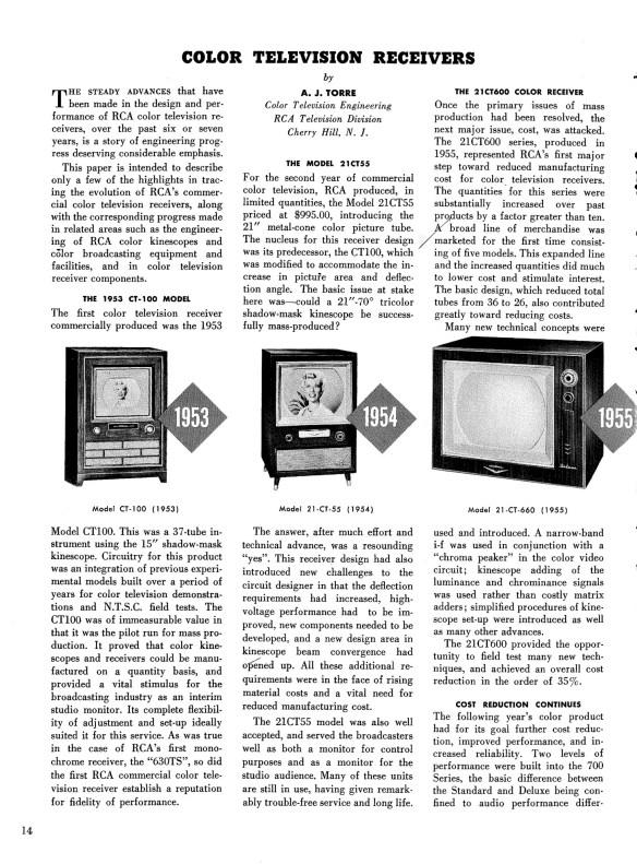 Courtesy RCA Engineer magazine