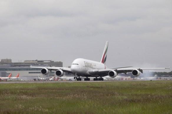 Emirates Airbus A380 in London-Gatwick/Foto Emirates