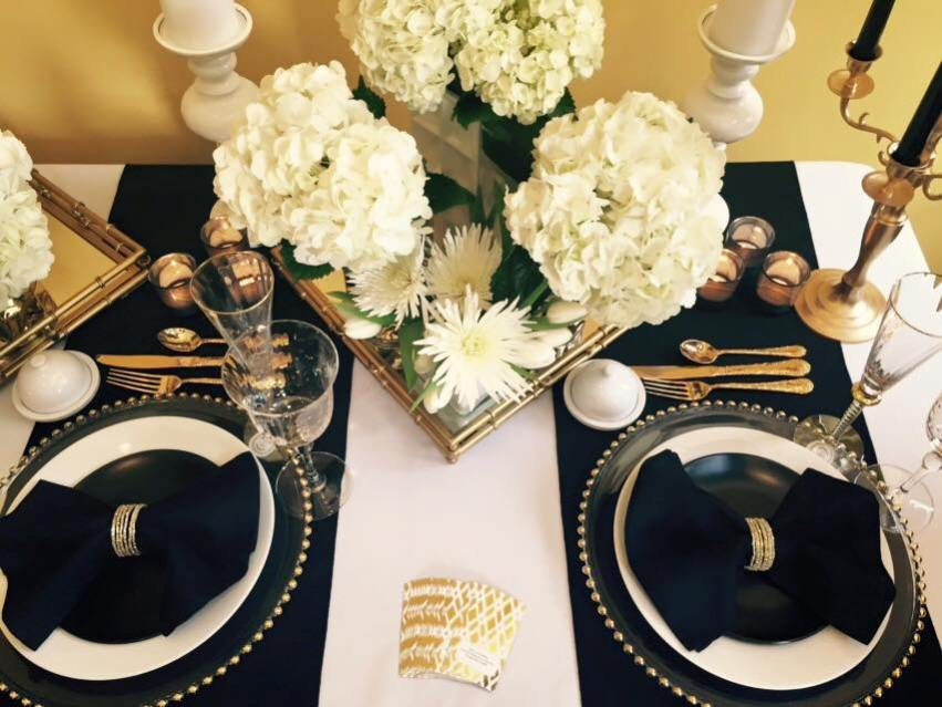 Black White and Gold Wedding