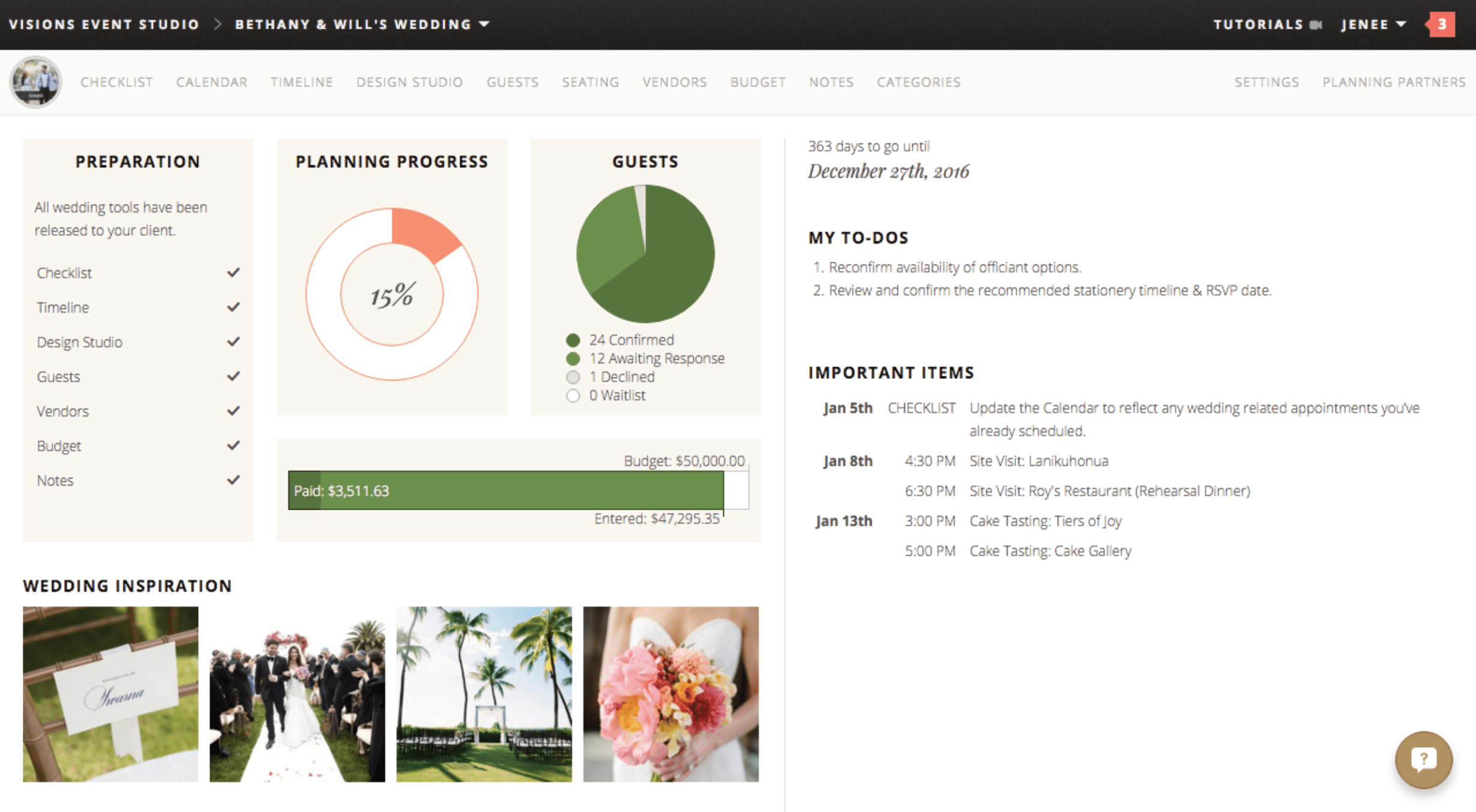 image regarding The Simplified Planner App named Business enterprise Equipment Wedding ceremony Planners Retain the services of - Visions Function Studio