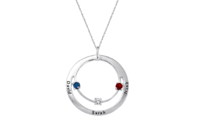 Birthstone Necklace with family circle