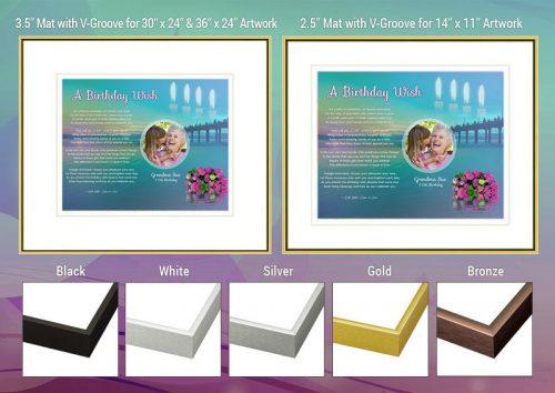 Birthday Sunset Beach Frame and Mat Choices