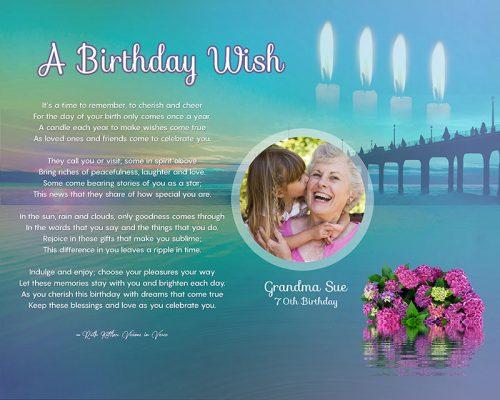 Sunset Bridge Art Poem Personalized Birthday Gift