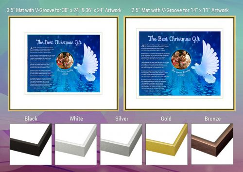 Christmas White Dove Frame and Mat Choices