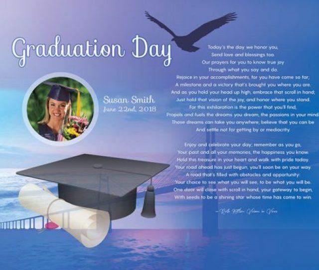 Bridge Art Poem Personalized Graduation Gift
