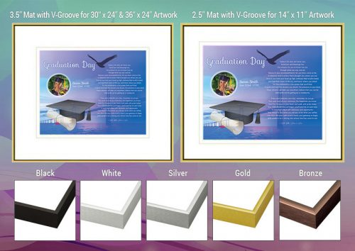 Graduation Bridge over Water Design Frame and Mat Choices